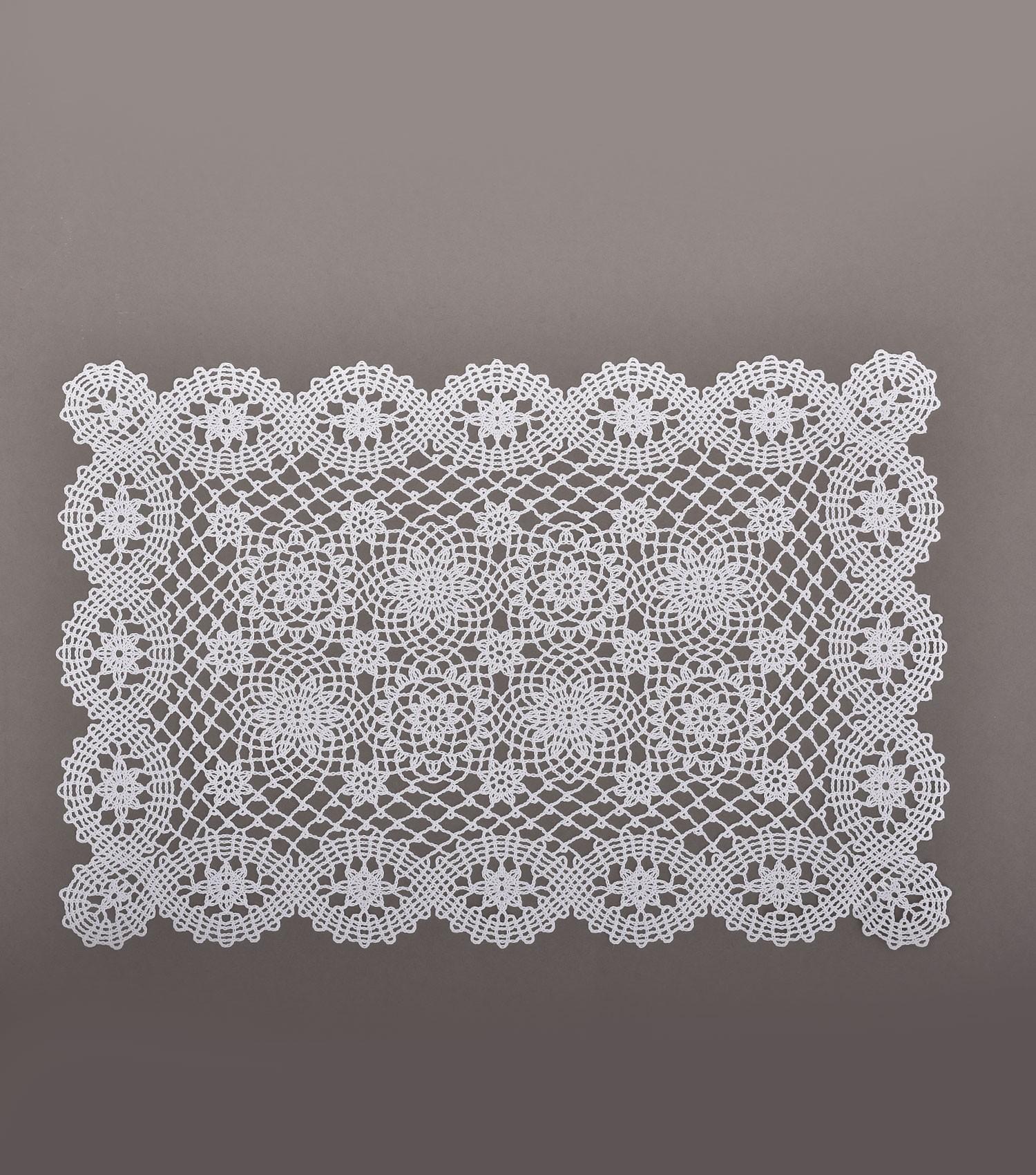 Crochet Placemat White S12
