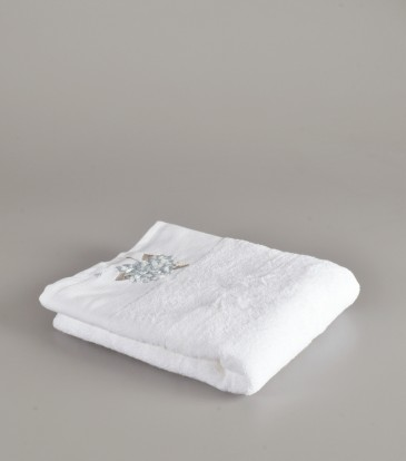 Flora Blue and white Guest towel