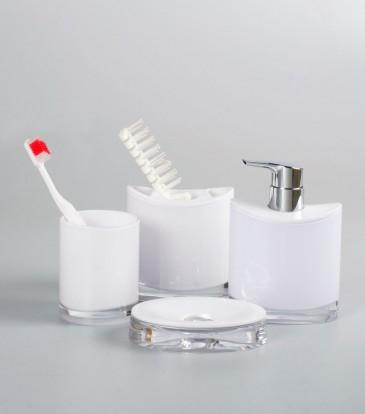 Miranda Bath Set S/4 White