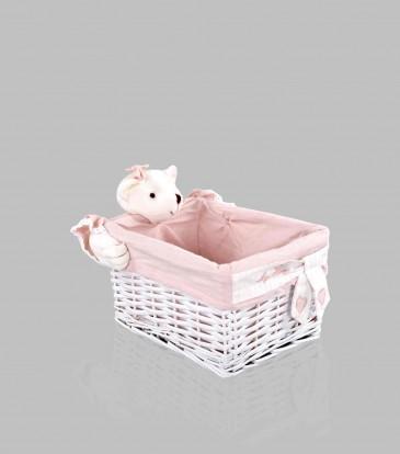 Bunny Bamboo Basket Small