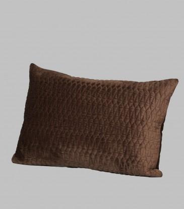 Turkish Velvet Deck Pillow Choco Brown