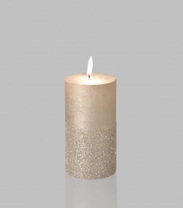 Glitz Candle Silver 3x6