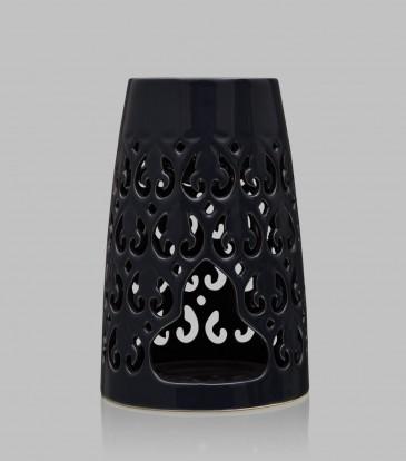 Tapered Baroque oil burner Dark Grey
