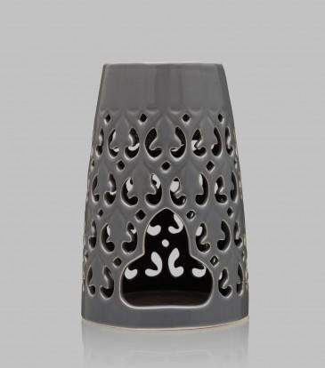 Tapered Baroque oil burner Light Grey
