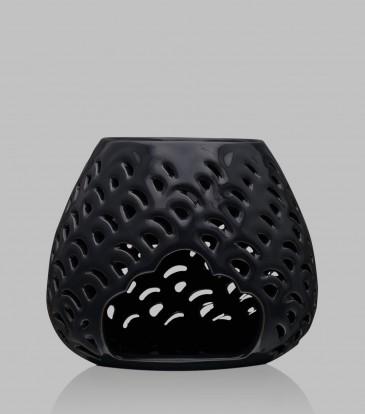 Round Baroque oil burner Dark Grey