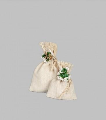 Organica Jute Potli with flower Small