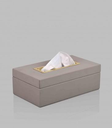 Quinn Tissue Box Grey