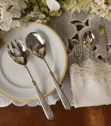 Celebration cutlery salad servers