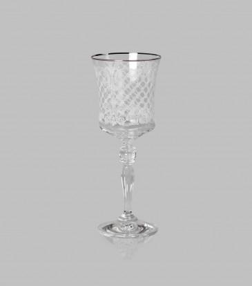 Crystal Wine Glasses Platinum Set of 6