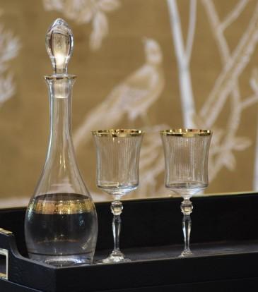 Crystal Decanter Gold/Pltm