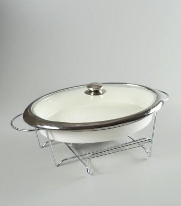 Casa cuisine casserole with warmer oval large