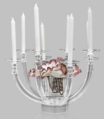 Crystal Candle Holder and Vase