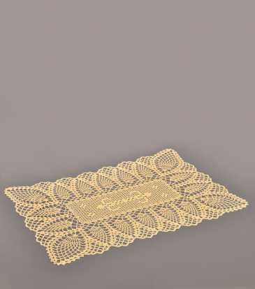 Crochet Placemat Beige S/12