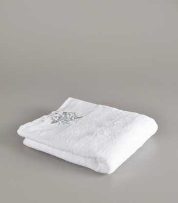 Flora Blue and white Bath towel