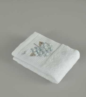 Flora Blue and white face towel