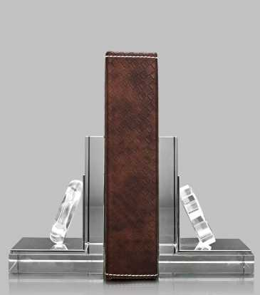 Crystal bookend S/2