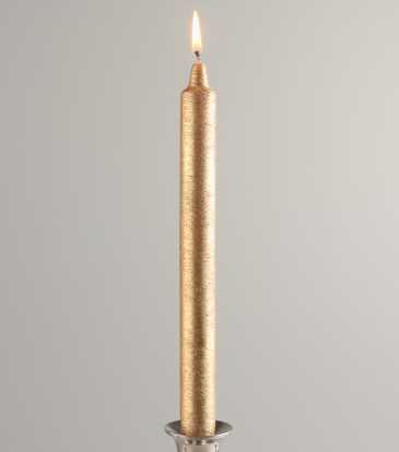 Metallic Taper Candle GOLD