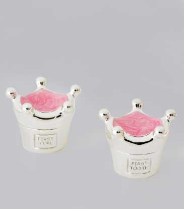Crown tooth & curl holder pink