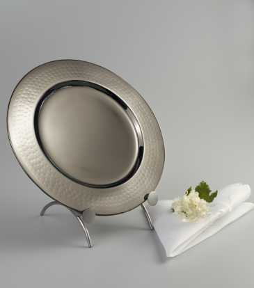 Charger plate nickle