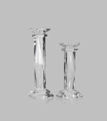 Vivid  Crystal Candle Stand Large