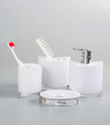 Miranda Bath Set S/4 White