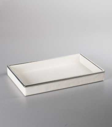 Miranda Towel Tray White