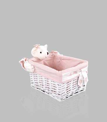 Bunny Bamboo Basket Small