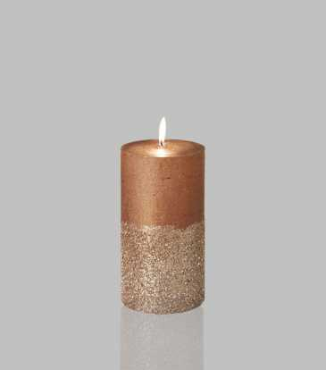 Glitz Candle Bronze 3x6