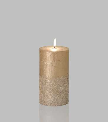 Glitz Candle Champagne 3x6