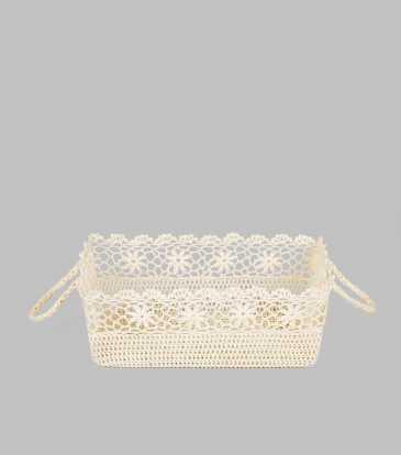 Crochet Basket with handle