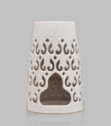 Tapered Baroque oil burner Cream