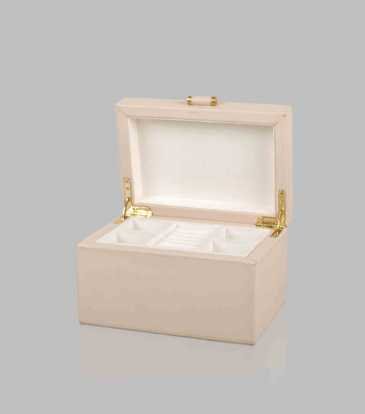 Quinn Jewellery Box Cream