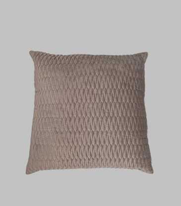 Turkish Velvet Cushion Light Grey