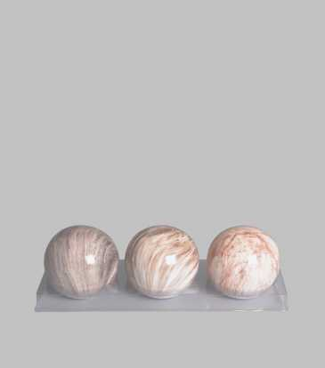 Marble Ball Accents Set of 3