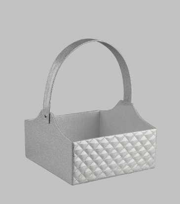 Silver quilted tote