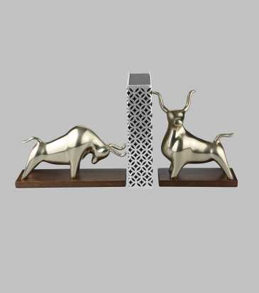 Bull Bookend Set of 2