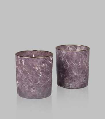 Marble Wax Votive Set of 2
