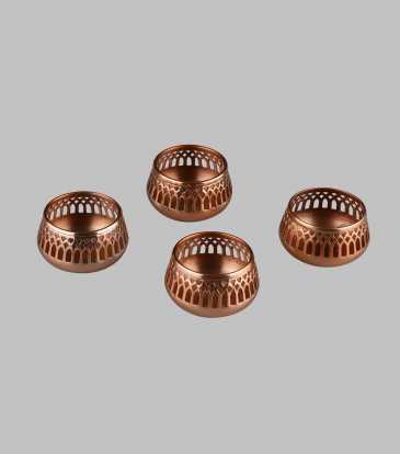 Chiaro Copper floater Set of 4
