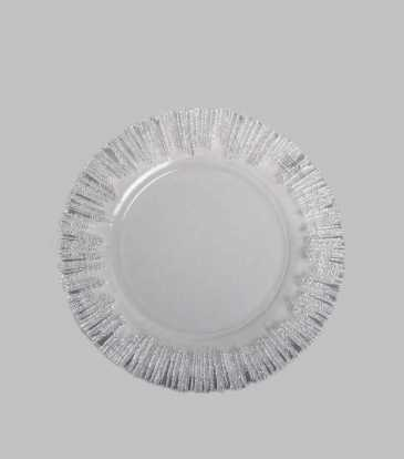 Atlas Charger Plate Silver