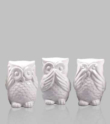 Albinia Owls Set of 3