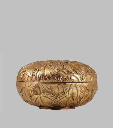 Empress Round Gold Box