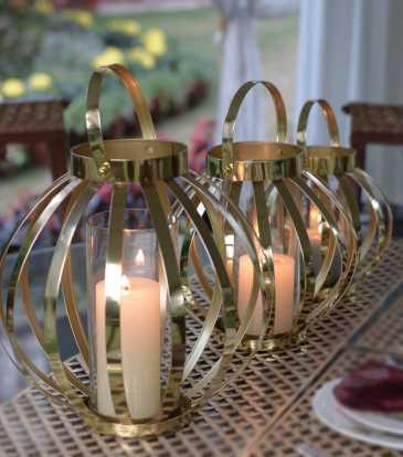 Belle Lantern Large Gold