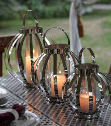 Belle Lantern Large Nickel