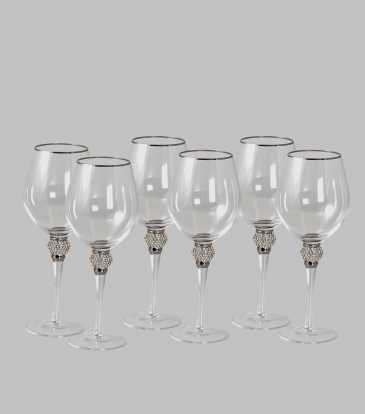 Fionna Wine Glass Silver Set of 6