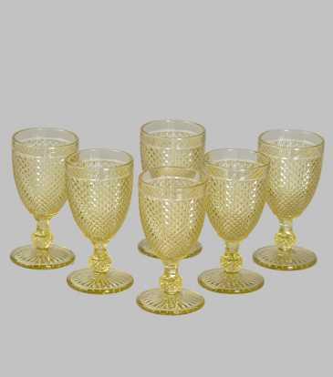 Goblets Gold Set of 6