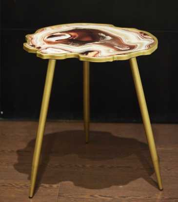 Reza Side Table Brown