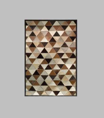Hairon Rug Black & Brown Prism 48 x 78""