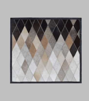 Hairon Cushion Black & Brown Prism 20x20