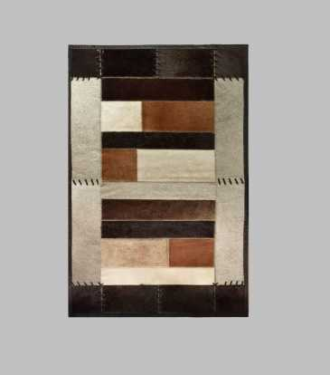 Hairon Rug Black & Brown 60 x 84""