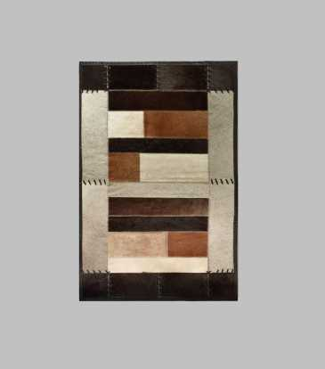 Hairon Rug Black & Brown 48 x 78""